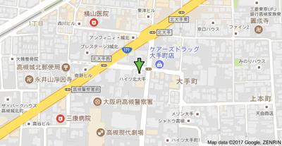 【地図】ハイツ北大手 (株)Roots