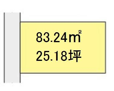 【区画図】【売地】伏虎義務教育学校区・120698
