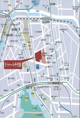 【地図】ラ・トゥール千代田2203号室