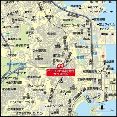 【地図】ビーコンヒル能見台サウスヒル10号棟