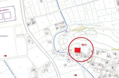 【地図】総社市三輪 建築条件付き土地