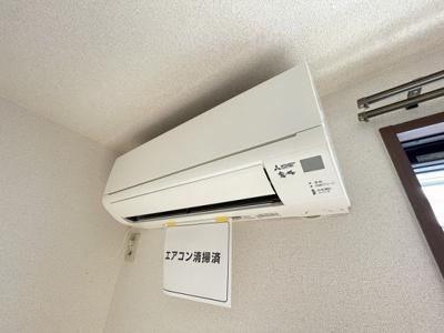暑い夏や寒い冬に大活躍のエアコン付き!冷暖房完備で一年中快適に過ごせちゃいます♪