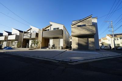 【外観】保土ヶ谷区仏向町全3棟 新築戸建て【成約済】