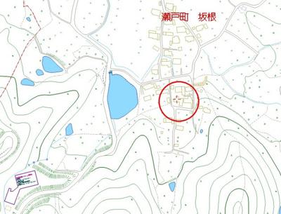 【地図】東区瀬戸町坂根 売地
