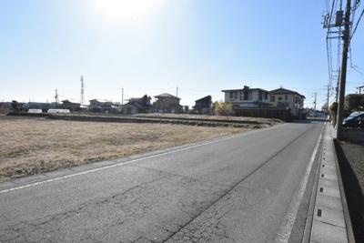 【前面道路含む現地写真】鴻巣市袋(市街化調整区域)4区画