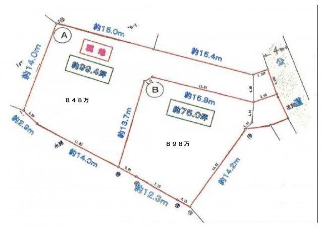 【土地図】内ヶ島売地