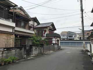 【前面道路含む現地写真】田井西町土地