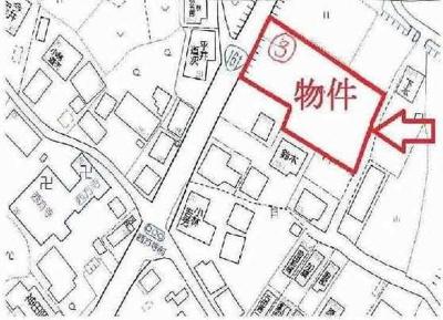【地図】大津市南小松242-4他3筆 売土地