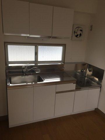 2口ガスコンロ設置可のキッチン