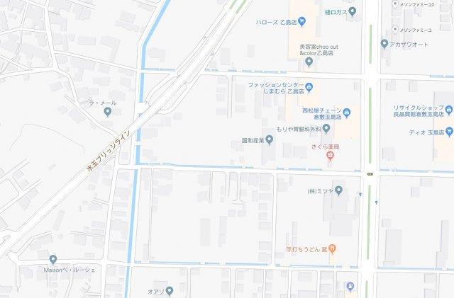 【地図】玉島乙島 6区画分譲地