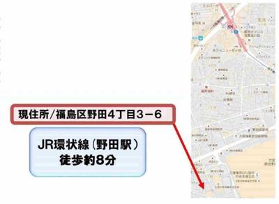 【地図】福島区野田4丁目 新築戸建
