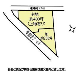 【土地図】鴻巣市広田の売地【No.10272】