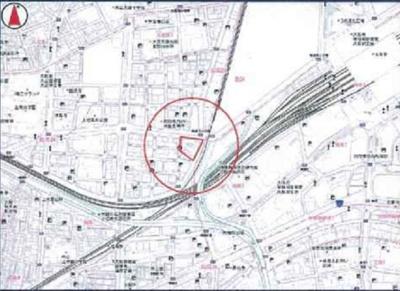 【地図】シャトー西梅田マンション
