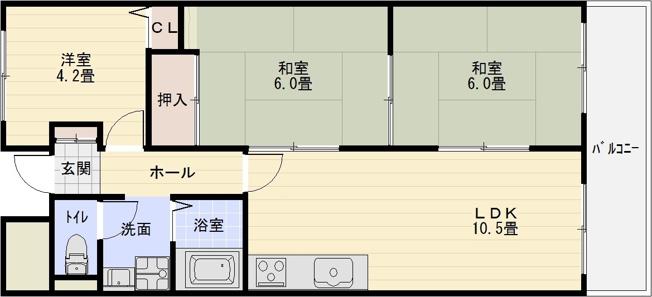グラード柏原(旧:メゾン・ドュ・ポルテマイヨ) 3LDK