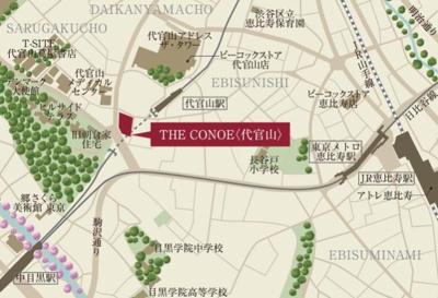 【地図】THE CONOE 代官山(ザ・コノエ代官山)