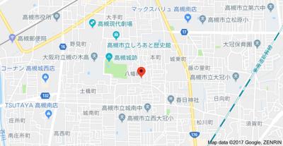 【地図】マイコート高槻八幡町 (株)Roots高槻