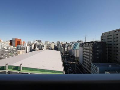 10階バルコニーからの眺望・北東向きです。