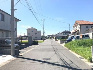 木更津市金田東 土地 袖ヶ浦駅 見通しの良いフラットな道路ですので安心です。