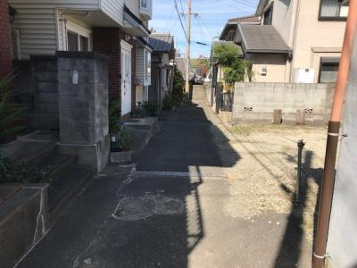 【前面道路含む現地写真】【売地】西和中学校区・55928
