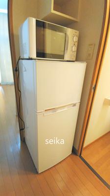 冷蔵庫・電子レンジ付きです♪