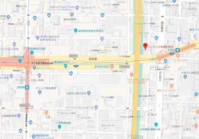 【地図】プレサンス松屋町駅前