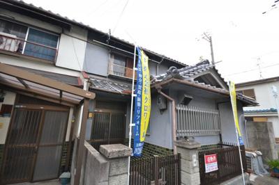 【前面道路含む現地写真】堺市堺区六条通 借地権付連棟