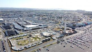 木更津市金田東上空からみた写真。綺麗に区画が整備されているのが良く分かりますね。