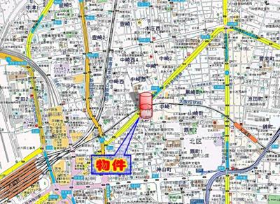 【地図】ローレルタワー梅田