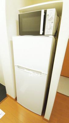 電子レンジ&冷蔵庫付