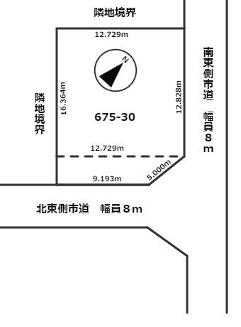 【区画図】北見市小泉675番30 売土地