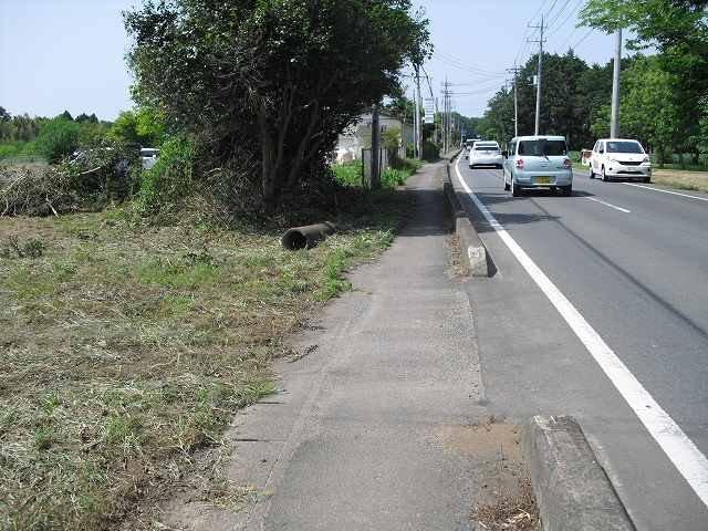 【前面道路含む現地写真】茨城町大戸土地