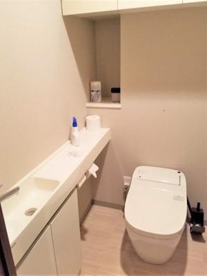 洗面と便利な収納棚が有ります