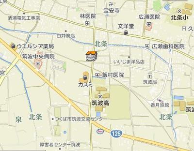 【地図】アネックス北山