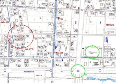 【地図】倉敷市中畝4丁目 売地