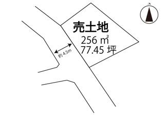 【土地図】飯山町下法軍寺売土地
