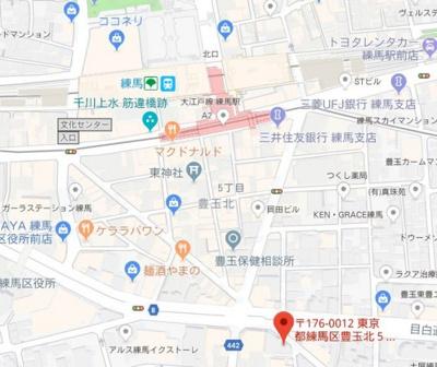 【地図】グラントゥルース練馬I
