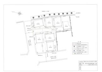 【区画図】東松山市/デザインガレージハウス1棟+フルリノべ平屋5棟+2階建1棟