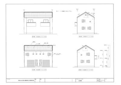 【外観パース】東松山市/デザインガレージハウス1棟+フルリノべ平屋5棟+2階建1棟
