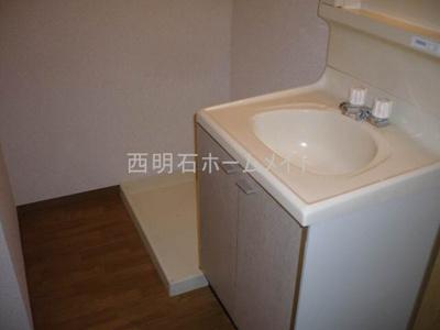 洗面台、洗濯機置き場