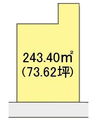 【区画図】【売地】河北中学校区・29425