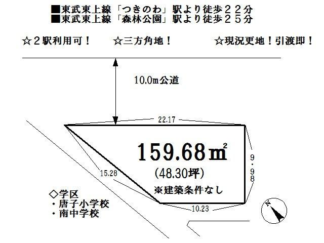 【土地図】東松山市下唐子 売地