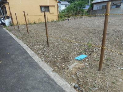 【前面道路含む現地写真】【売地】貴志中学校区・56431