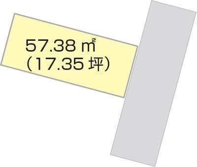 【区画図】【売地】河西中学校区・56432