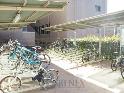 HF早稲田レジデンスⅡの自転車置場