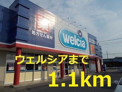 ウェルシアまで1100m