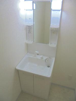 温水シャワー付き洗面所