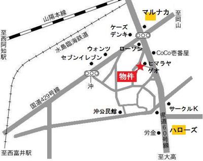 【地図】しおみコーポ