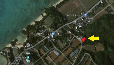 【地図】真栄田高台