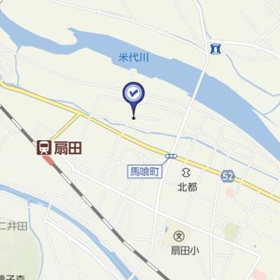 【地図】大館市扇田字押切・売地
