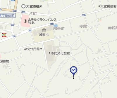 【地図】大館市相染沢中岱78-1・売地